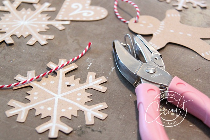 how to make gingerbread ornaments from paper