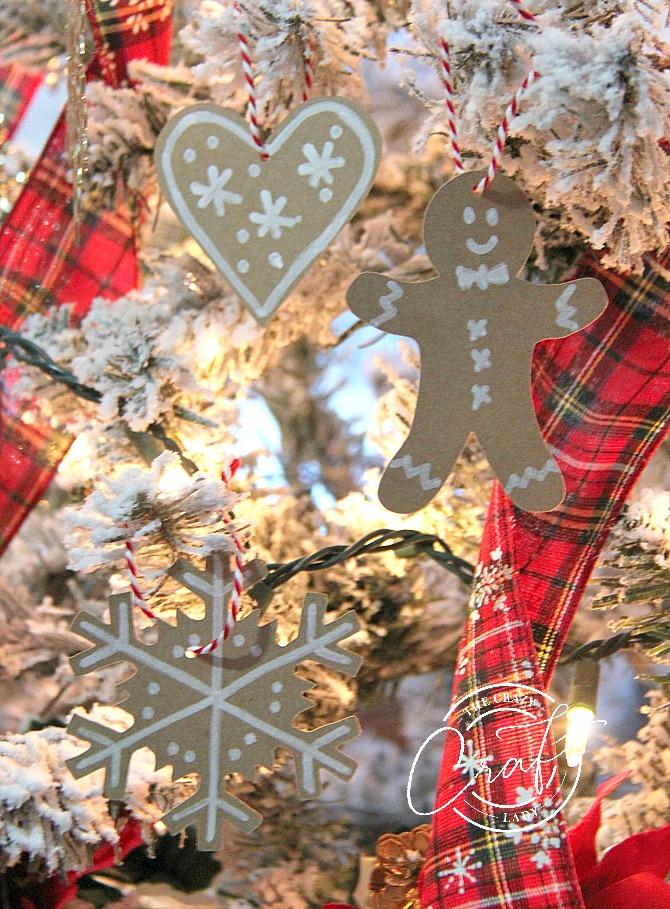 sweet paper treats - gingerbread ornaments