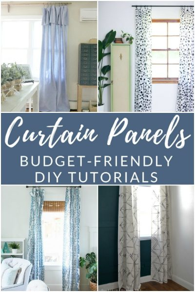 Make your own homemade curtain panels. They're easy on the wallet and filled with personal style!