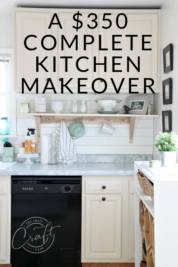 You won't believe this $350 painted kitchen makeover! I completely transformed our small kitchen, mostly with paint, on a tiny budget.