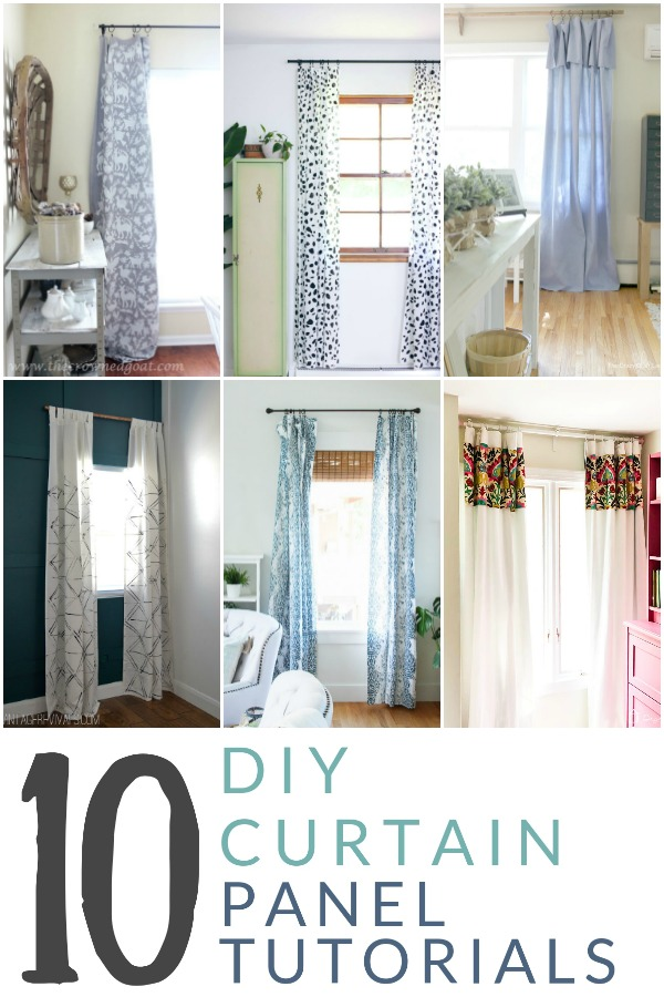 Decorate your home with window treatments that you love and can afford, with these 10 inspiring tutorials for DIY curtain panels.