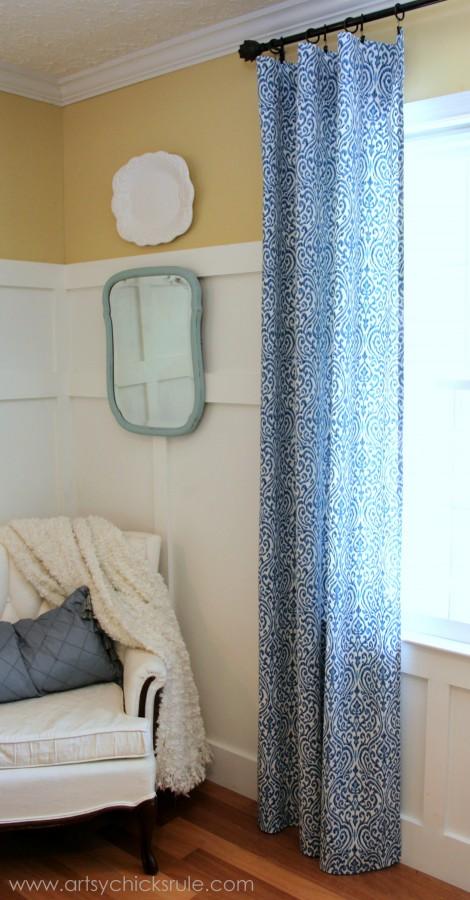Easy DIY No-Sew Curtain Panels