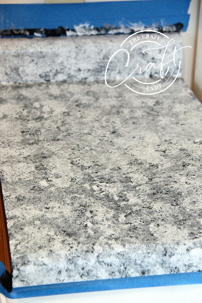 Faux Granite Painted Counters