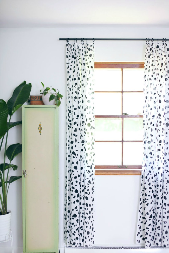 Painted Spotted Curtains from A Beautiful Mess
