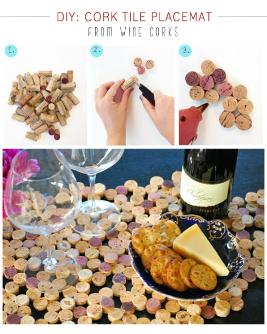 DIY Project Cork Placemat Upcycle - Pretty AND Functional Wine Cork Crafts