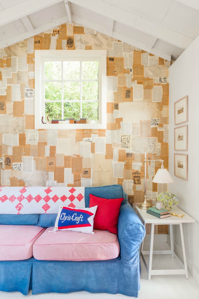DIY Wallpaper Alternatives Book Page Wall Covering