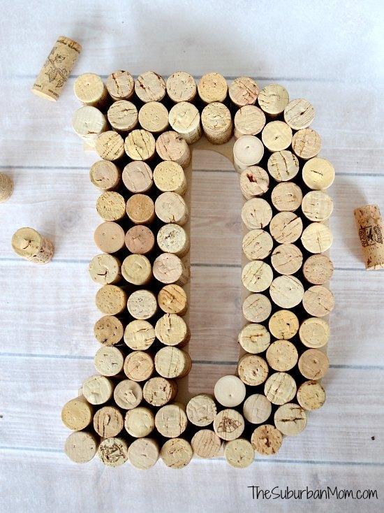 Monogram Wine Cork Craft Upcycle - Pretty AND Functional Wine Cork Crafts
