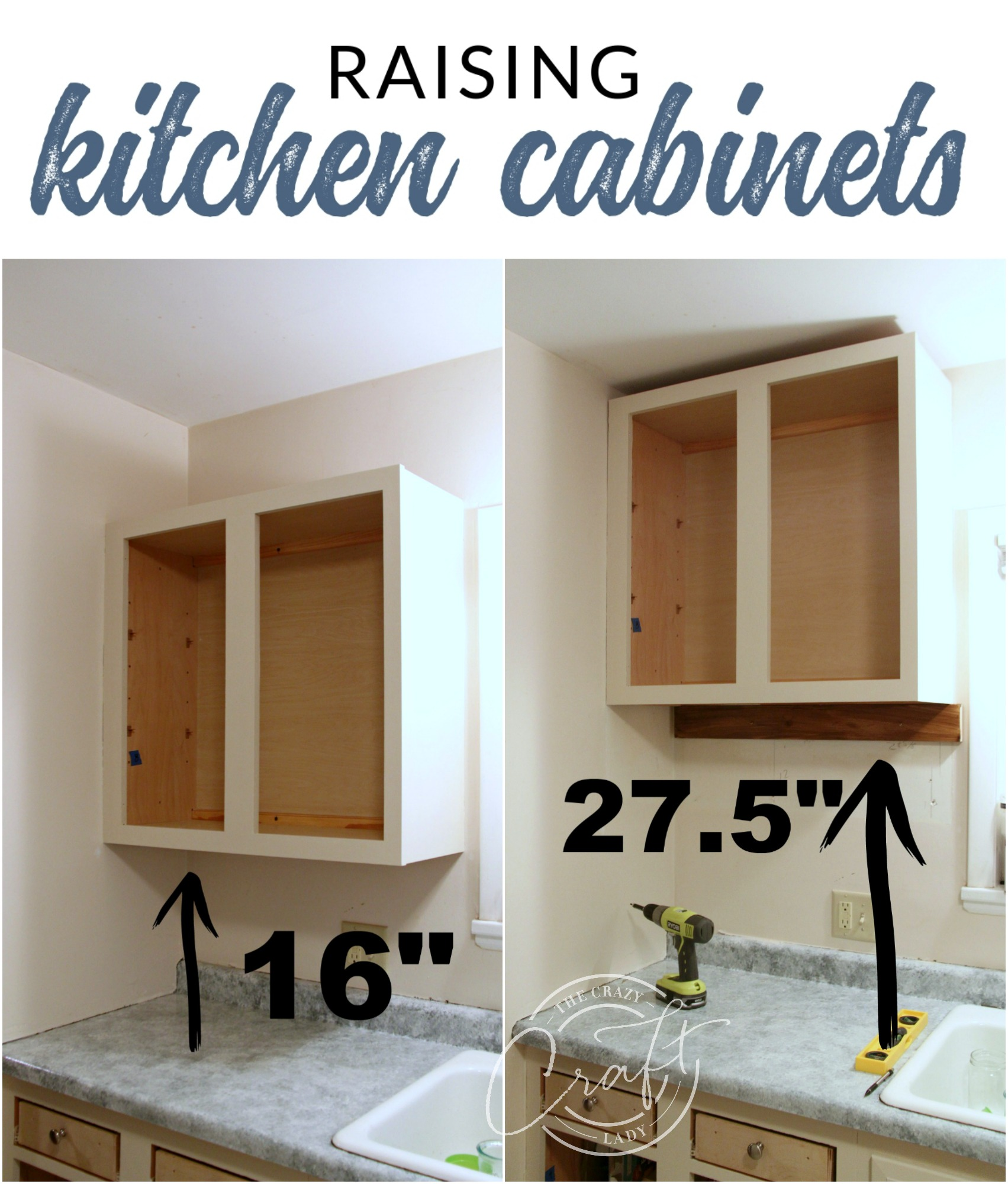 Raising Upper Kitchen Cabinets to the Ceiling