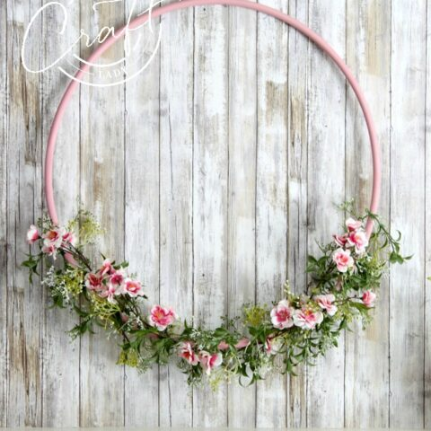 Cherry Blossom Hula Hoop Wreath