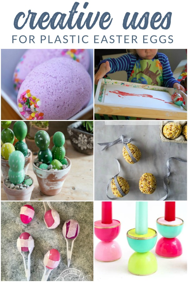 Creative Uses for Plastic Easter Eggs: Try one of these craft projects and re-use and upcycle plastic Easter eggs!
