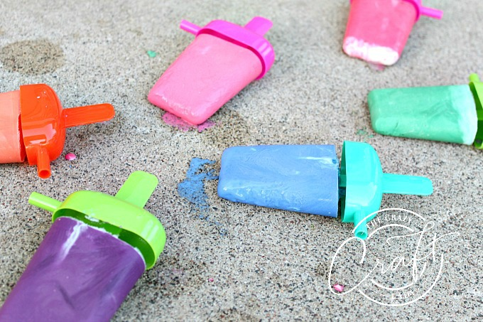 DIY Frozen Chalk Popsicles