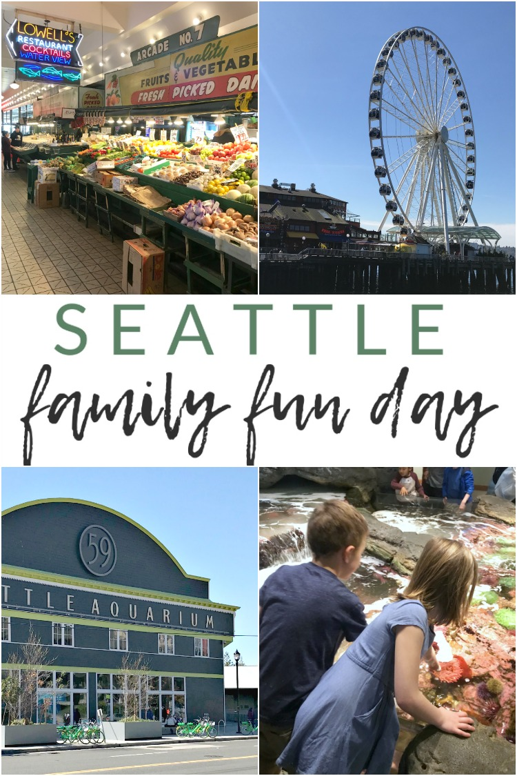 We recently spent a half-day in downtown Seattle, taking in the sights and playing tourist. Here's how to enjoy a half-day (or a little bit longer) in downtown Seattle with kiddos in tow. A kid-friendly and family-friendly day in downtown Seattle: Pike Place, the Seattle Aquarium, and a Ferris Wheel ride at the Pier.
