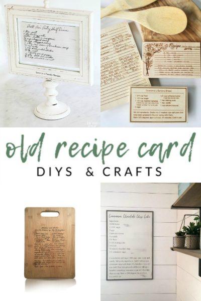 Old Recipe Card DIYs and Crafts