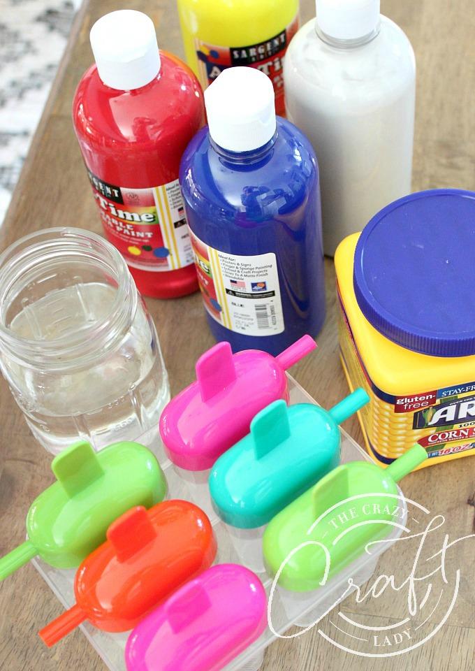 Supplies needed to make frozen chalk