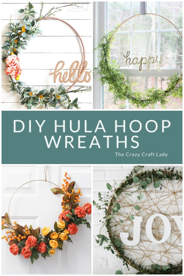 DIY Hula Hoop Wreath Ideas - Hoop Wreath Crafts: Get inspired to make your very own hula hoop wreath with one of these 8 gorgeous giant hoop wreaths. Add some fun to your home or party decor.