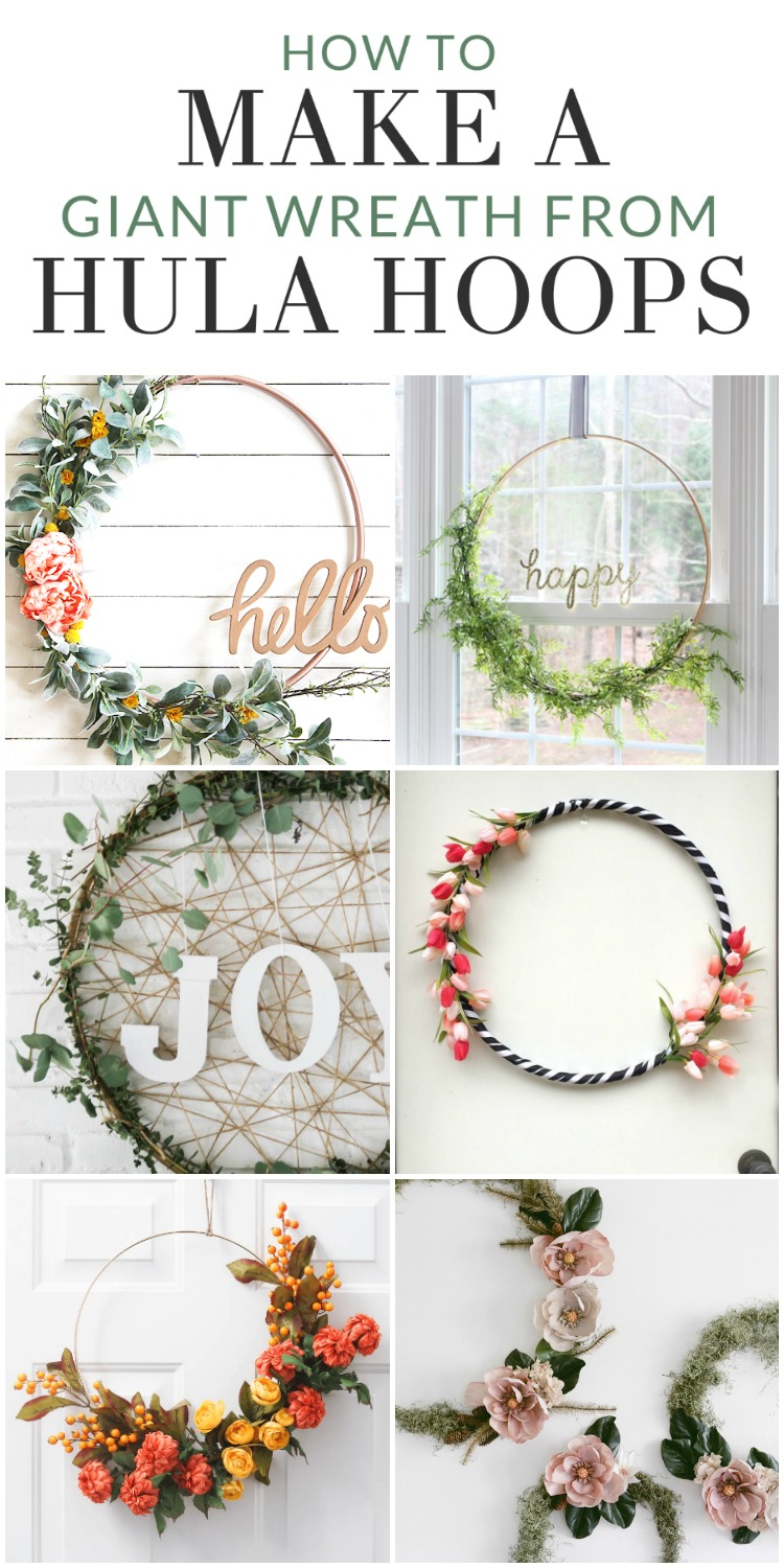 How to Make a Giant Wreath from Hula Hoops -Get crafty and make a large hula hoop wreath to change up your seasonal decor