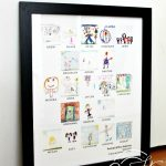 Kids art teacher gift - photo collage made from kids art