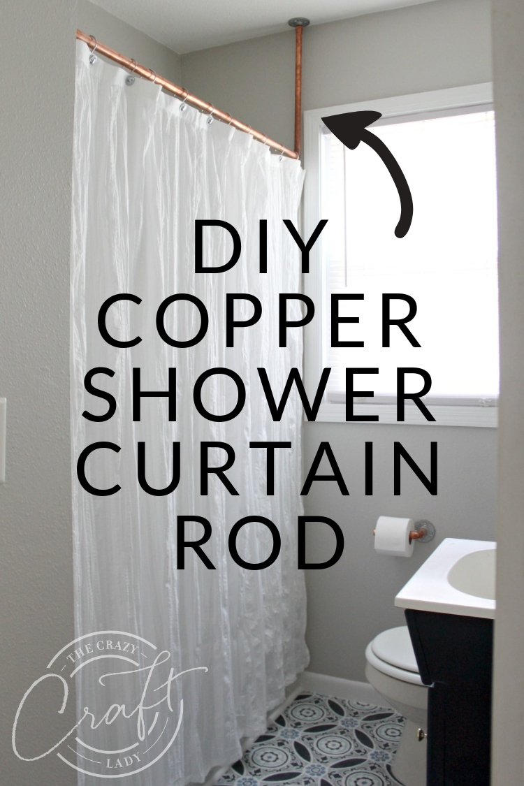 DIY Copper Shower Curtain Rod