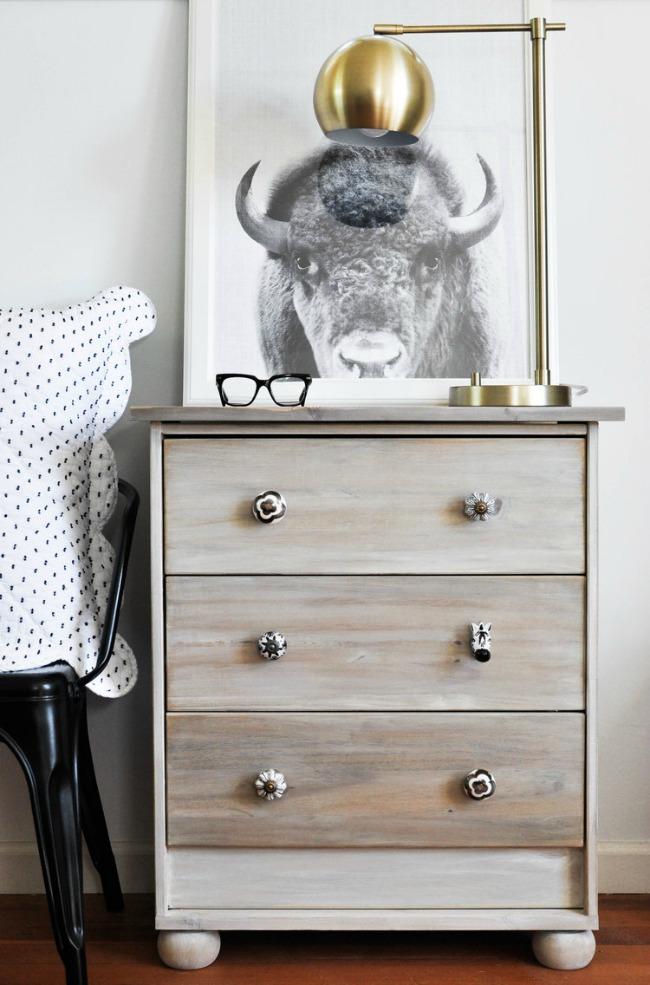 Brushed stain Ikea Rast hack