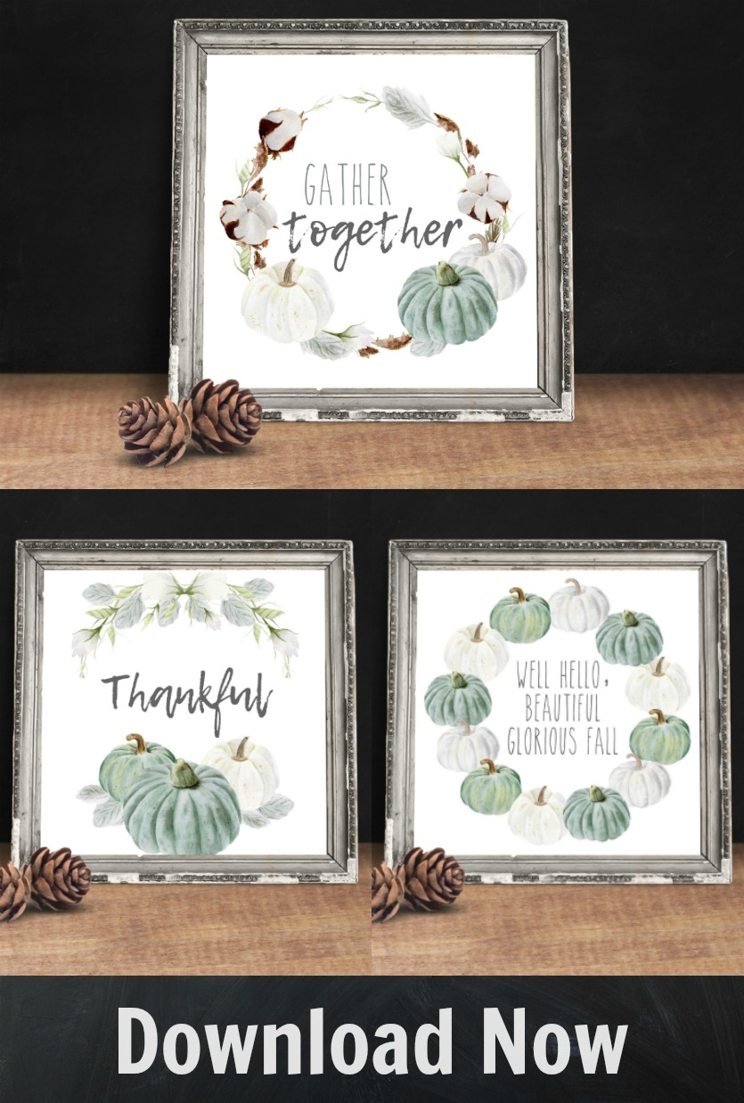 Download and Print these neutral fall printables from The Crazy Craft Lady