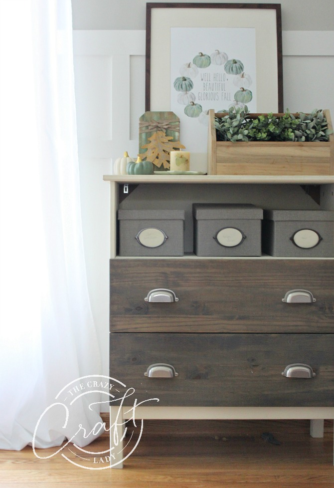 Ikea Tarva Dresser Hack with Fall Vignette