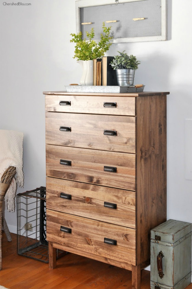 Ikea Tarva Dresser with Walnut Stain