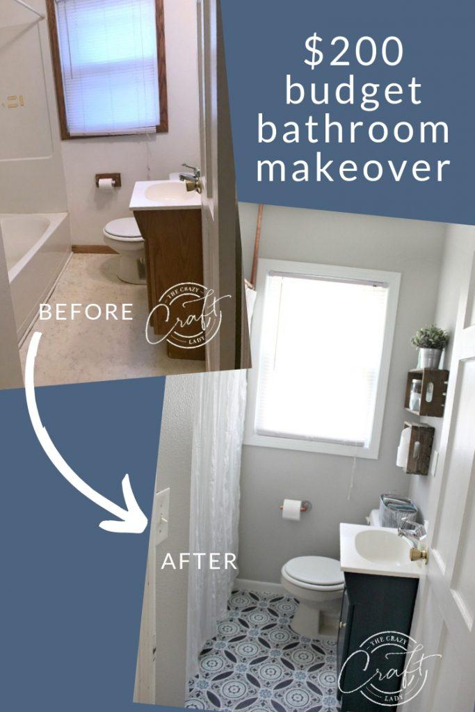 a budget bathroom makeover
