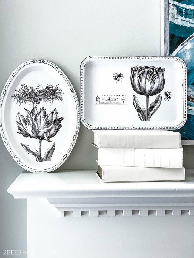 Chalk Painted Dollar Store Platters