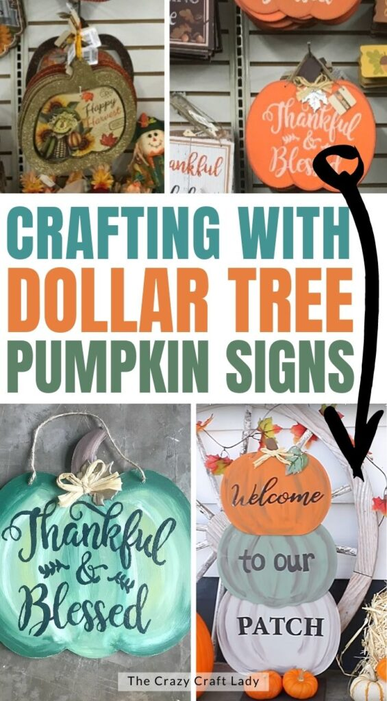 Crafting with Dollar Tree Pumpkin SIgns