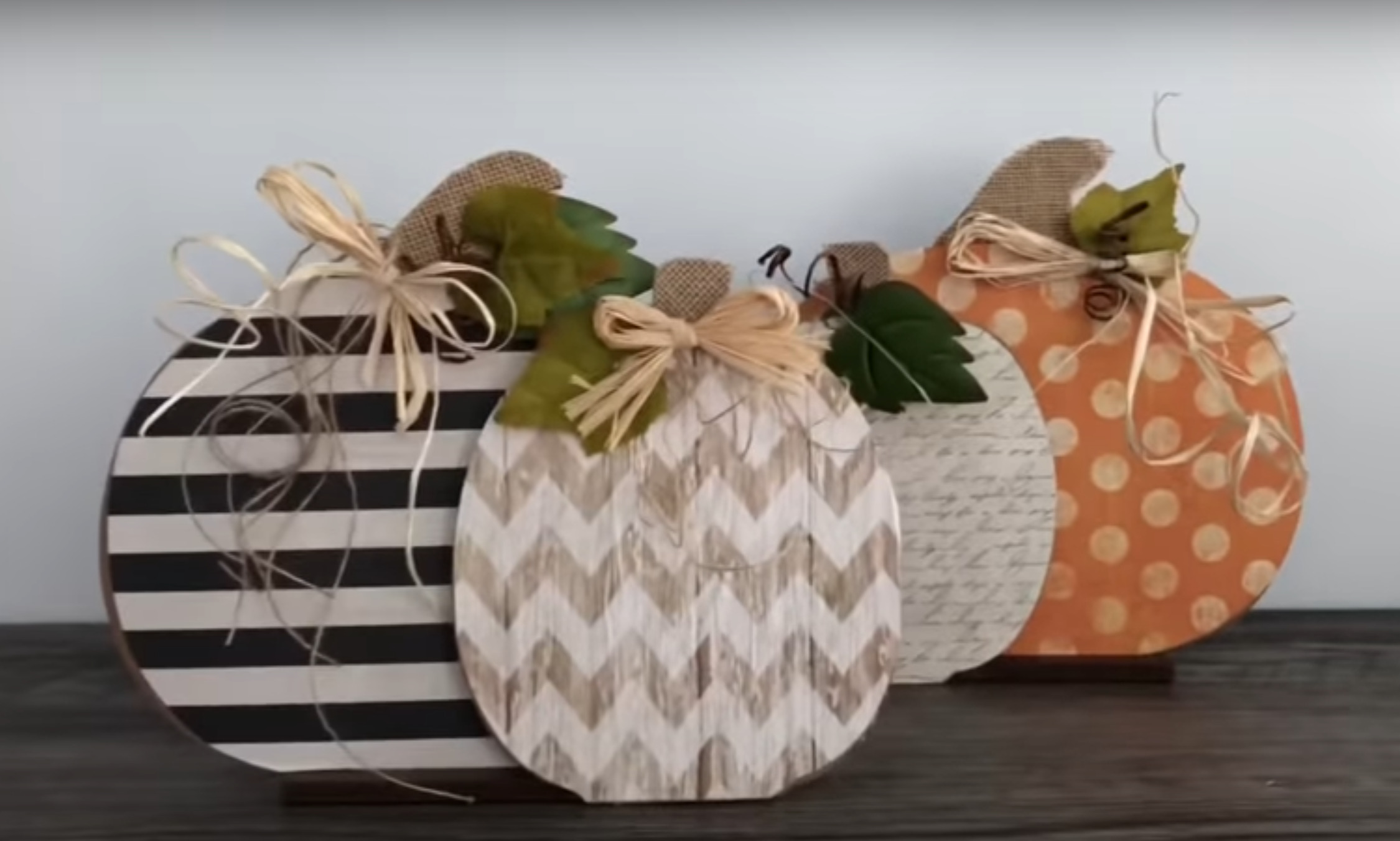 DIY Dollar Tree Farmhouse Pumpkins