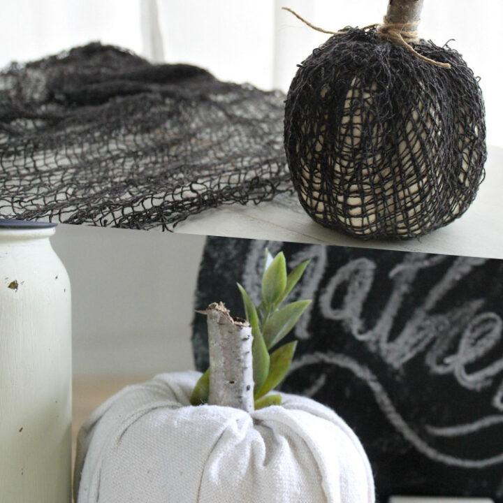 DIY Fabric Covered Pumpkins
