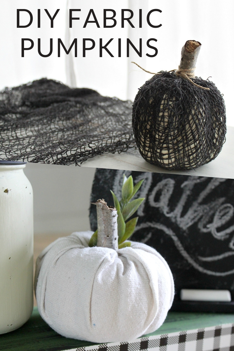 DIY Fabric Covered Pumpkins