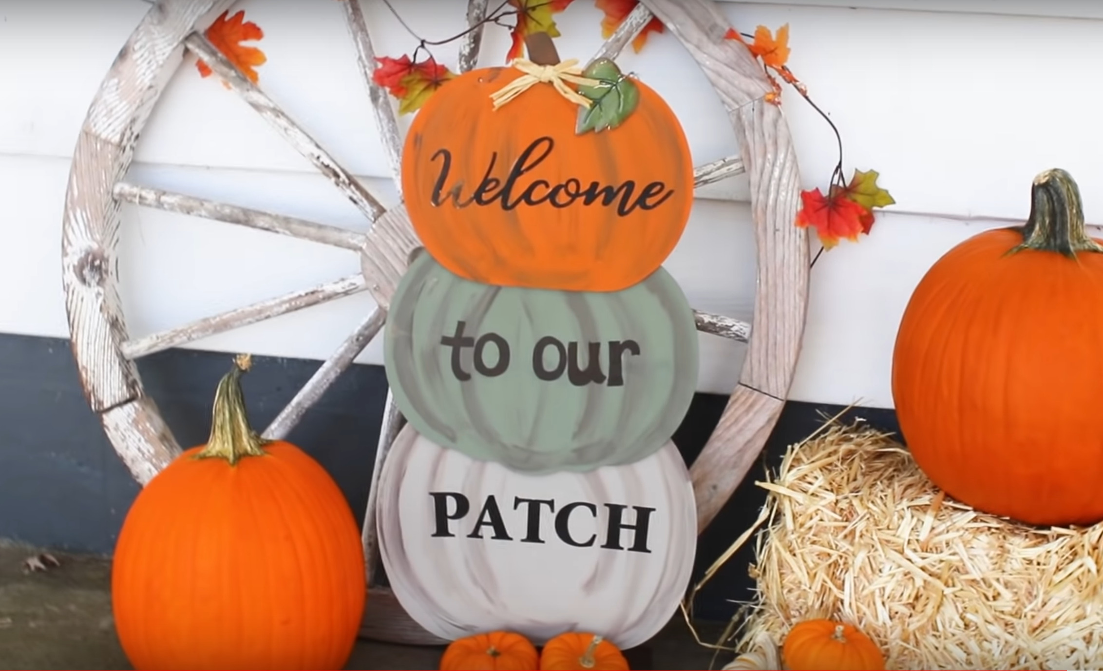 DIY dollar store fall porch decor
