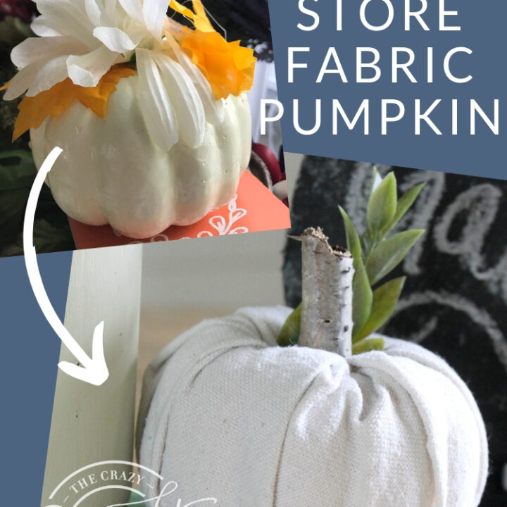 How to make the absolute simplest fall craft: fabric-covered pumpkins. This is a great way to quickly and easily change up the look of store-bought foam pumpkins without the mess of carving or painting.
