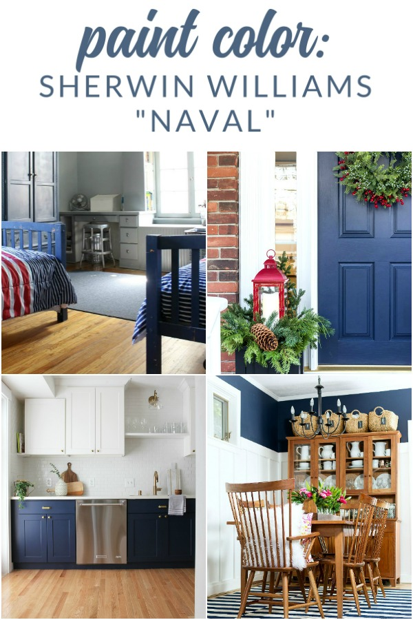 Come see why Sherwin Williams Naval is one of my favorite navy paint colors for just about any project or space in your home!