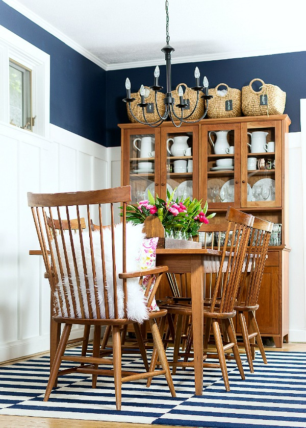 Sherwin Williams Naval SW6244 Dining Room
