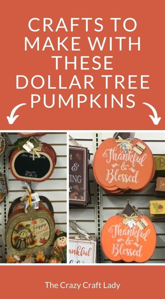 crafts to make with dollar tree cardboard pumpkin door hangers