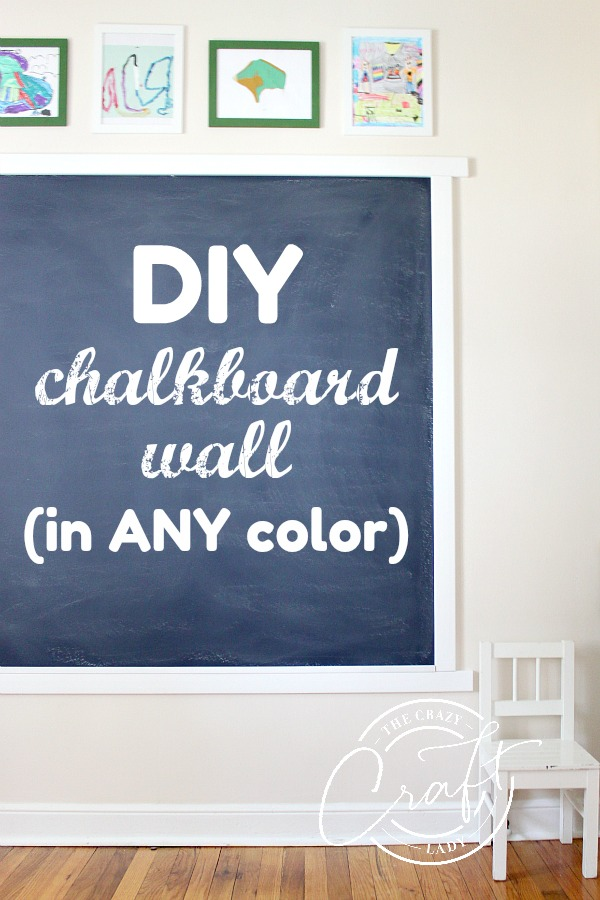 DIY Chalkboard Wall in ANY Color