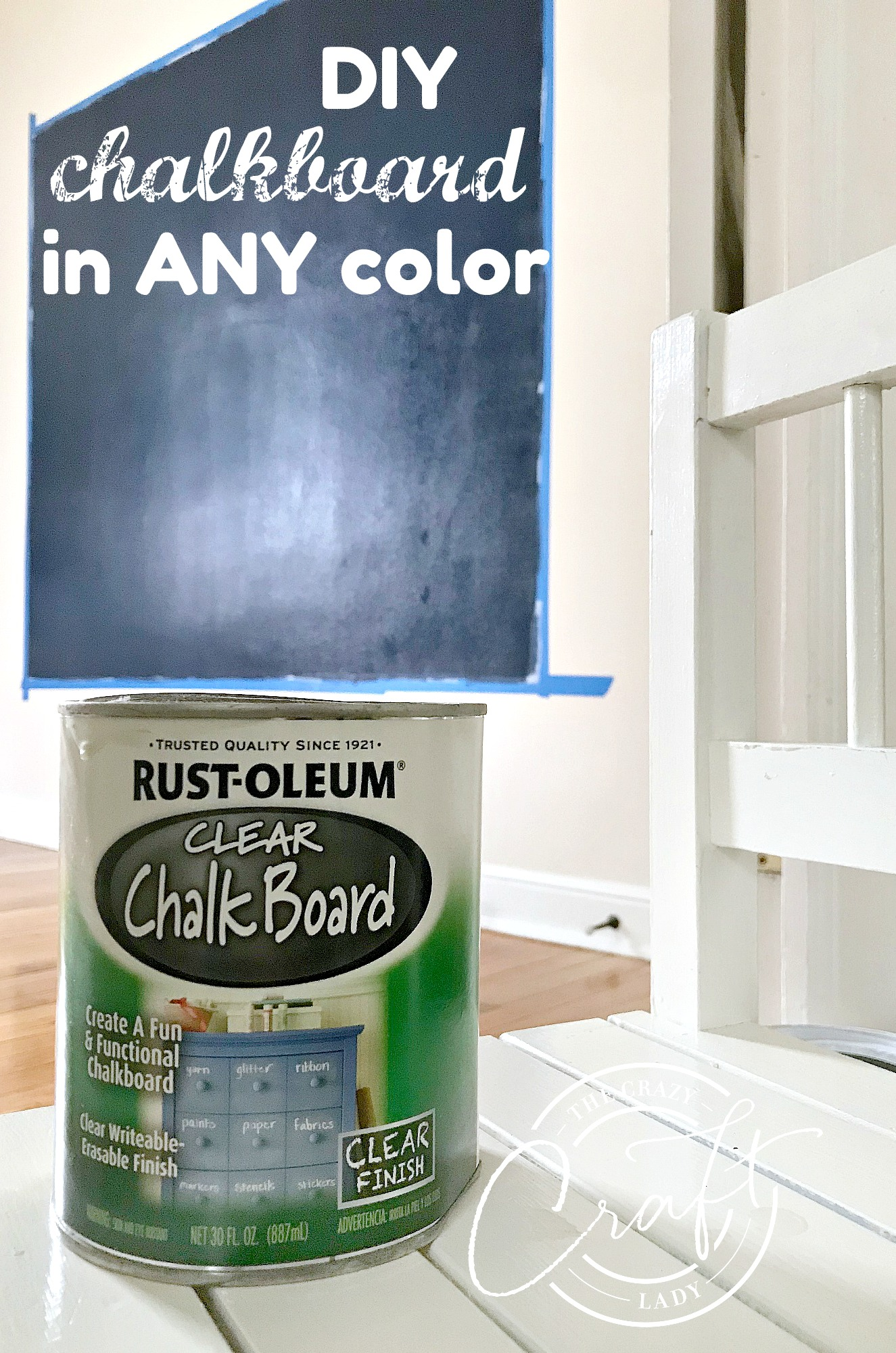 DIY Chalkboard in ANY Color Grab your paint roller, because today we're making a GIANT chalkboard wall in ANY custom color you like.