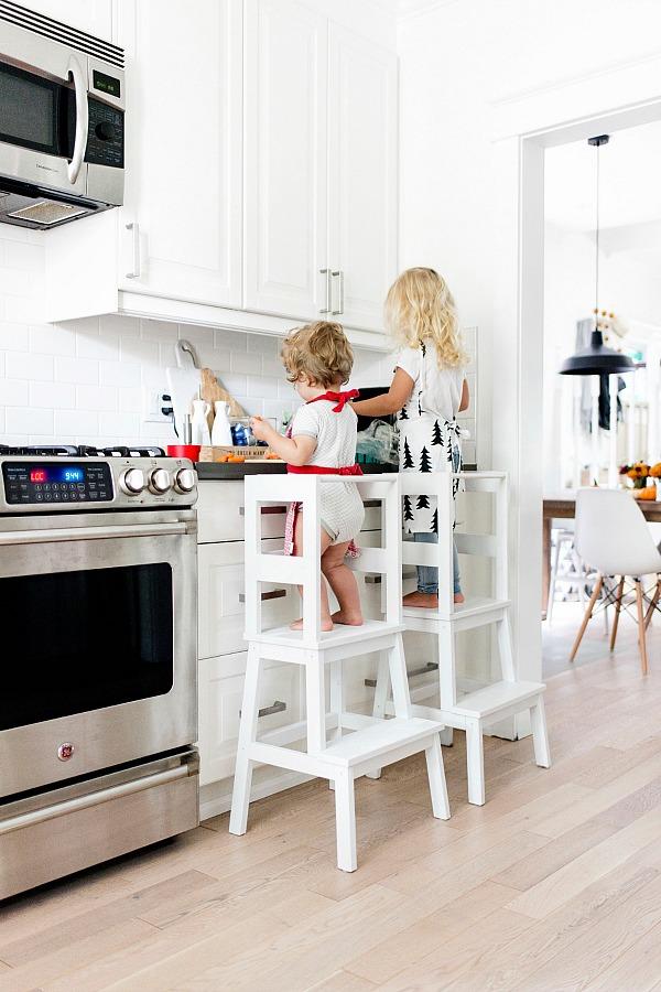 DIY Ikea Hack - Toddler Learning Tower Stool