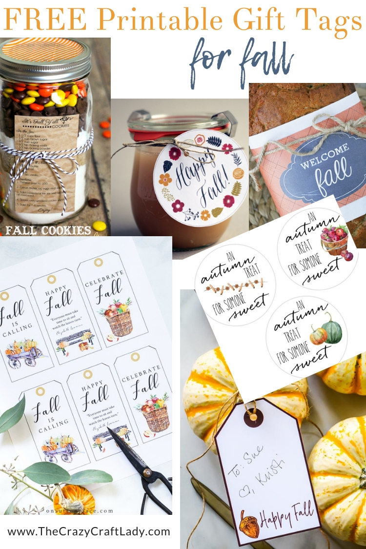 FREE Fall Printable Gift Tags -- These are great for fall gift giving - think hostess gifts, teacher gifts, gifts for neighbors.