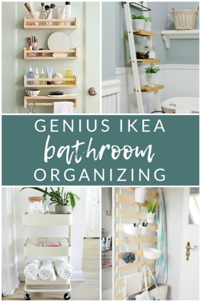 Genius Ikea Bathroom Organizing - Create extra bathroom storage with these clever Ikea hacks!