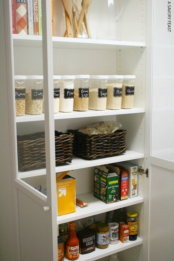 Ikea Billy Bookcase hack for extra pantry storage