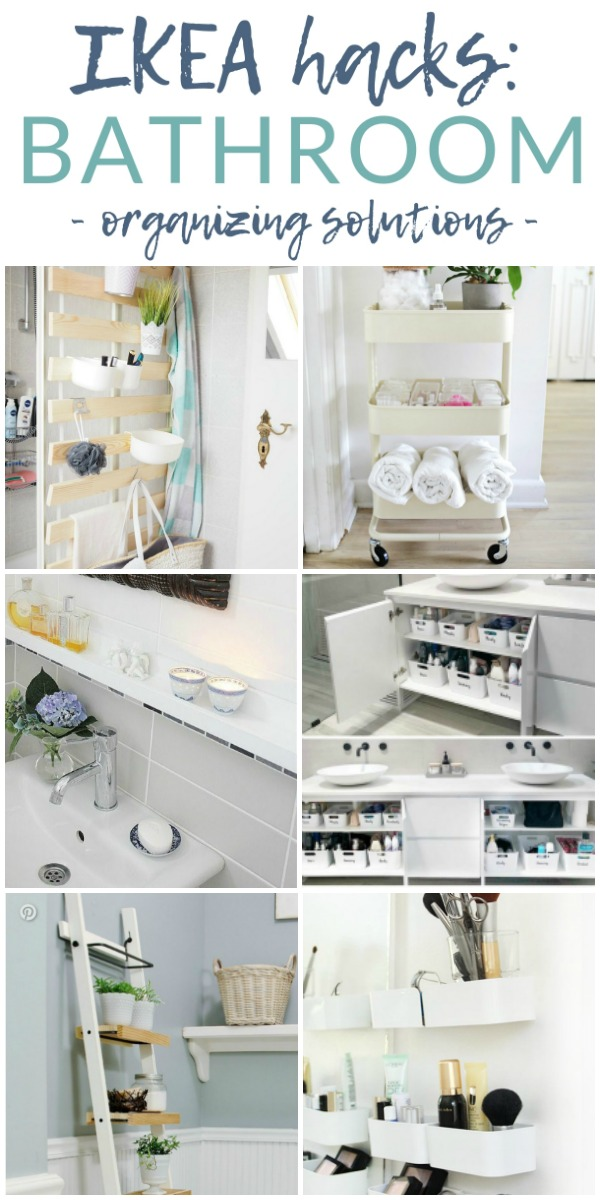 Organize your bathroom - without sacrificing style or your budget - with these 7 stunning Ikea bathroom organizing hacks and tips. Get inspired (and organized) with Ikea.