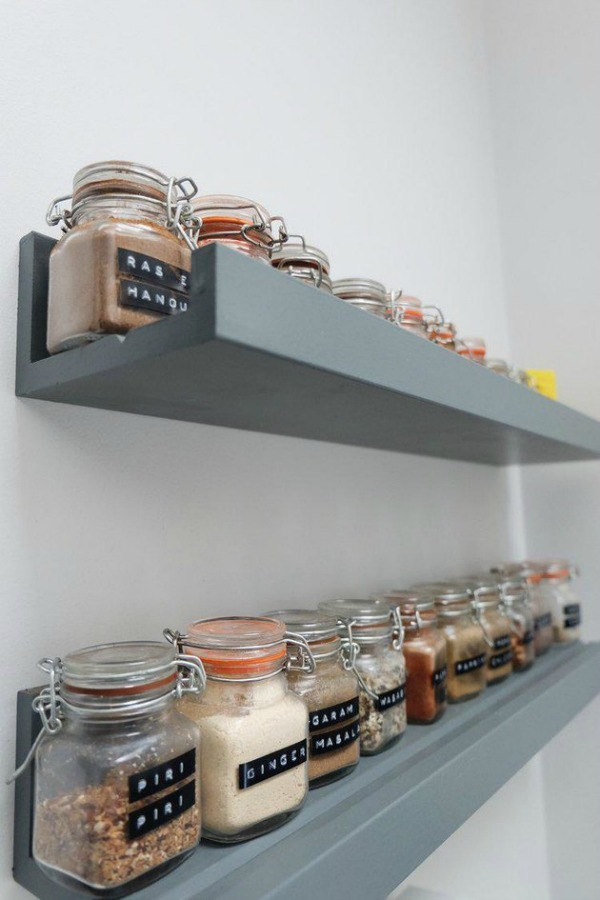 Ikea Kitchen Hack - Picture Ledges for Spice Jars
