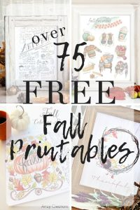 Where to find tons of the BEST Free Fall Printables with over 75 of my Favorite Fabulous Free Fall Printables - grab these freebies including coloring pages, gift tags, printable art, and more, all for the autumn and fall season.