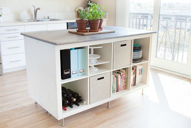 This IKEA Kallax hack adds SO MUCH storage space to your kitchen, with a super-affordable price tag.