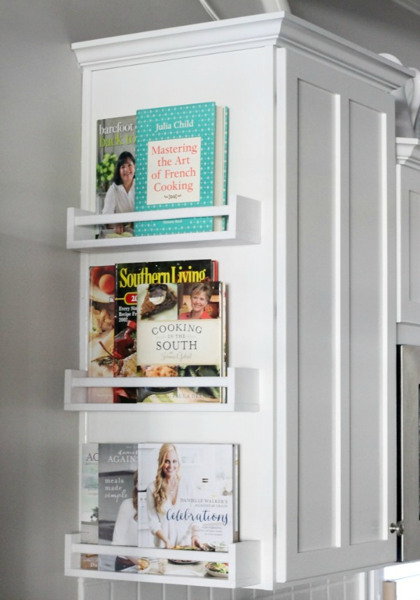 Treat your cookbooks like decor and create your own functional cookbook display