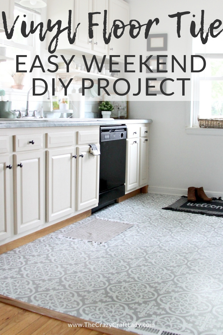 Vinyl Floor Tile - Easy Weekend DIY Project Watch this video to learn all about how to install vinyl floor tile - it's budge-friendly, easy to install, and comes in a TON of patterns. Give this weekend home DIY project a try!