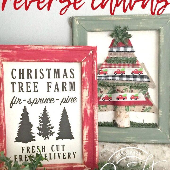 DIY Christmas Reverse Canvas Craft